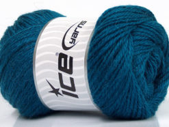 Lot of 4 x 100gr Skeins Ice Yarns NORSK (45% Alpaca 25% Wool) Yarn Dark Turquoise