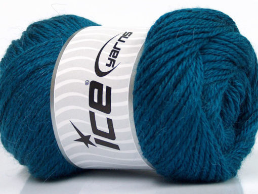 Lot of 4 x 100gr Skeins Ice Yarns NORSK (45% Alpaca 25% Wool) Yarn Dark Turquoise