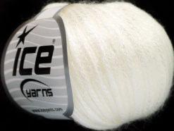 Lot of 8 Skeins Ice Yarns ROCK STAR (19% Merino Wool) Hand Knitting Yarn White