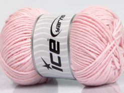 Lot of 4 x 100gr Skeins Ice Yarns LORENA WORSTED (55% Cotton) Yarn Baby Pink