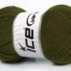 Lot of 4 x 100gr Skeins Ice Yarns TUBE VISCOSE (73% Viscose) Yarn Dark Green