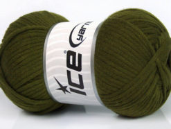 Lot of 4 x 100gr Skeins Ice Yarns TUBE VISCOSE (73% Viscose) Yarn Dark Green