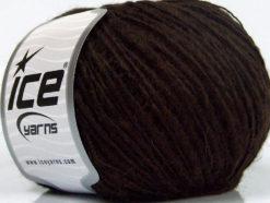 Lot of 8 Skeins Ice Yarns SALE LUXURY-PREMIUM (15% Alpaca 10% Wool) Yarn Dark Brown