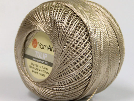 Lot of 6 Skeins YarnArt TULIP (100% MicroFiber) Hand Knitting Yarn Light Beige