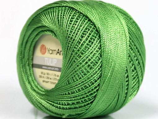Lot of 6 Skeins YarnArt TULIP (100% MicroFiber) Hand Knitting Yarn Green