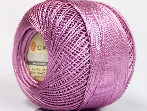 Lot of 6 Skeins YarnArt TULIP (100% MicroFiber) Hand Knitting Yarn Light Orchid