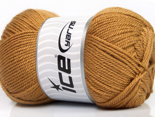 Lot of 4 x 100gr Skeins Ice Yarns DORA Hand Knitting Yarn Light Brown