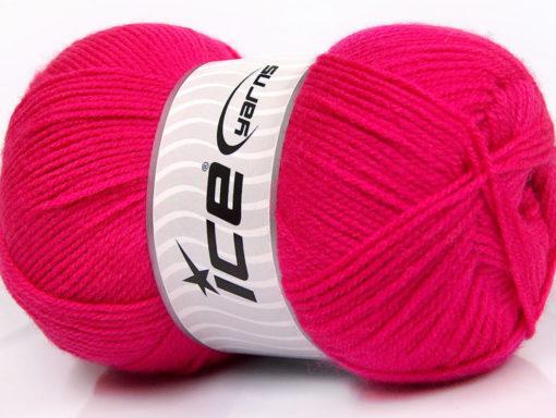 Lot of 4 x 100gr Skeins Ice Yarns SUPER BABY Hand Knitting Yarn Fuchsia