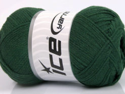 Lot of 4 x 100gr Skeins Ice Yarns NATURAL COTTON AIR (100% Cotton) Yarn Dark Green
