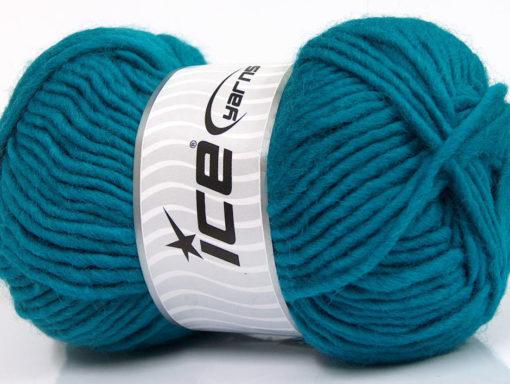 Lot of 4 x 100gr Skeins Ice Yarns FELTING WOOL (100% Wool) Yarn Teal
