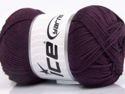 Lot of 4 x 100gr Skeins Ice Yarns BABY COTTON 100GR (100% Giza Cotton) Yarn Maroon