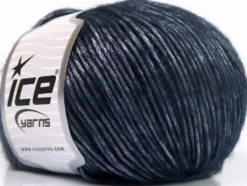 Lot of 8 Skeins Ice Yarns SILVER SHINE Hand Knitting Yarn Navy