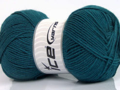 Lot of 4 x 100gr Skeins Ice Yarns ELITE WOOL (30% Wool) Hand Knitting Yarn Teal