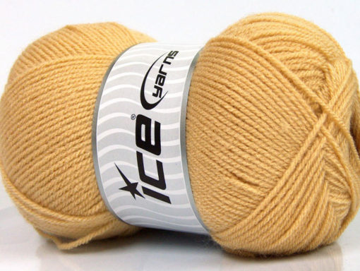 Lot of 4 x 100gr Skeins Ice Yarns SUPER BABY Hand Knitting Yarn Cafe Latte