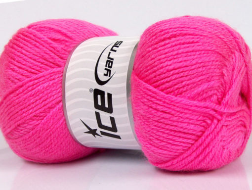 Lot of 4 x 100gr Skeins Ice Yarns Worsted FAVORITE Yarn Candy Pink