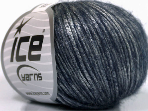 Lot of 8 Skeins Ice Yarns ROCK STAR (19% Merino Wool) Yarn Purple Silver