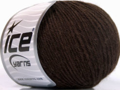 Lot of 4 Skeins Ice Yarns BABY ALPACA (45% Superwash Extrafine Merino Wool) Yarn Dark Brown