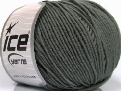 Lot of 4 Skeins Ice Yarns SUPERWASH MERINO EXTRAFINE (100% Superwash Extrafine Merino Wool) Yarn Dark Grey