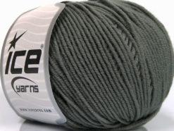 Lot of 4 Skeins Ice Yarns SUPERWASH MERINO EXTRAFINE (100% Superwash Extrafine Merino Wool) Yarn Dark Grey