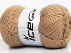Lot of 4 x 100gr Skeins Ice Yarns DORA Hand Knitting Yarn Dark Beige