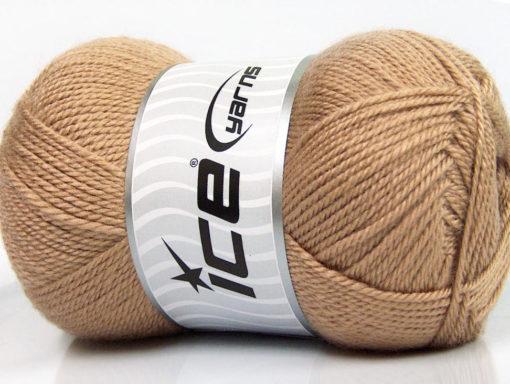 Lot of 4 x 100gr Skeins Ice Yarns DORA Hand Knitting Yarn Dark Beige