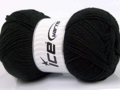 Lot of 4 x 100gr Skeins Ice Yarns BAMBOO SOFT FINE (50% Bamboo) Yarn Black