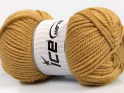 Lot of 4 x 100gr Skeins Ice Yarns CLASSIC CHUNKY Yarn Light Brown