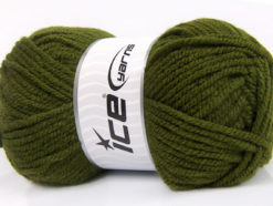 Lot of 4 x 100gr Skeins Ice Yarns CLASSIC CHUNKY Yarn Hunter Green