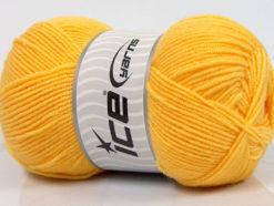 Lot of 4 x 100gr Skeins Ice Yarns BAMBOO SOFT FINE (50% Bamboo) Yarn Yellow
