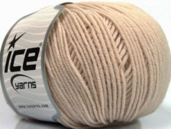 Lot of 4 Skeins Ice Yarns SUPERWASH MERINO EXTRAFINE (100% Superwash Extrafine Merino Wool) Yarn Beige