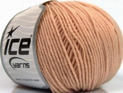 Lot of 4 Skeins Ice Yarns SUPERWASH MERINO EXTRAFINE (100% Superwash Extrafine Merino Wool) Yarn Light Salmon