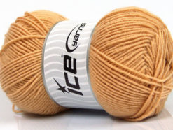 Lot of 4 x 100gr Skeins Ice Yarns ELITE WOOL (30% Wool) Yarn Light Brown