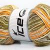 Lot of 4 x 100gr Skeins Ice Yarns BABY COTTON PRINT (50% Cotton) Yarn Green Camel Yellow Cream