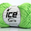 Lot of 6 Skeins Ice Yarns CAMILLA COTTON (100% Mercerized Cotton) Yarn Light Green