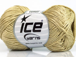 Lot of 6 Skeins Ice Yarns CAMILLA COTTON (100% Mercerized Cotton) Yarn Light Khaki