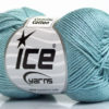 Lot of 6 Skeins Ice Yarns CAMILLA COTTON (100% Mercerized Cotton) Yarn Light Blue