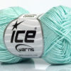 Lot of 6 Skeins Ice Yarns CAMILLA COTTON (100% Mercerized Cotton) Yarn Light Mint Green
