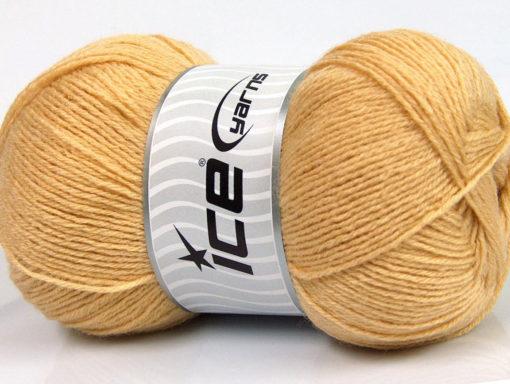 Lot of 4 x 100gr Skeins Ice Yarns MERINO GOLD (60% Merino Wool) Yarn Cafe Latte