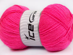 Lot of 4 x 100gr Skeins Ice Yarns MERINO GOLD (60% Merino Wool) Yarn Bright Pink