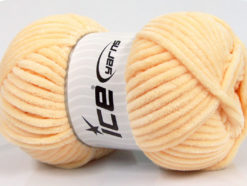 Lot of 4 x 100gr Skeins Ice Yarns CHENILLE BABY (100% MicroFiber) Yarn Light Orange