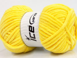 Lot of 4 x 100gr Skeins Ice Yarns CHENILLE BABY (100% MicroFiber) Yarn Yellow
