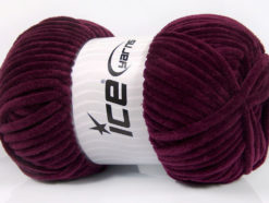Lot of 4 x 100gr Skeins Ice Yarns CHENILLE BABY (100% MicroFiber) Yarn Maroon