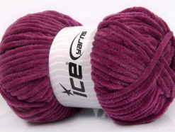 Lot of 4 x 100gr Skeins Ice Yarns CHENILLE BABY (100% MicroFiber) Yarn Dark Orchid