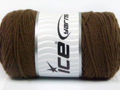 Lot of 2 x 200gr Skeins Ice Yarns SAVER Hand Knitting Yarn Brown