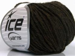 Lot of 8 Skeins Ice Yarns PLY WOOL BULKY (45% Wool) Yarn Dark Brown