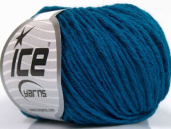 Lot of 8 Skeins Ice Yarns PLY WOOL BULKY (45% Wool) Yarn Dark Turquoise