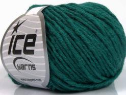 Lot of 8 Skeins Ice Yarns PLY WOOL BULKY (45% Wool) Yarn Dark Green