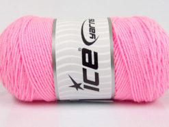 Lot of 2 x 200gr Skeins Ice Yarns SAVER Hand Knitting Yarn Pink