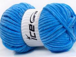 Lot of 4 x 100gr Skeins Ice Yarns CHENILLE BABY (100% MicroFiber) Yarn Blue