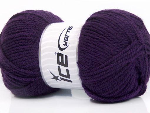Lot of 4 x 100gr Skeins Ice Yarns Worsted FAVORITE Hand Knitting Yarn Purple